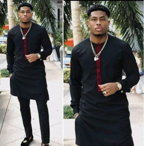 cf6175694bb Black   Wine Dashiki Wear for Wedding - SHOP AFRICA BLOOMS · Black African  Shirt ...