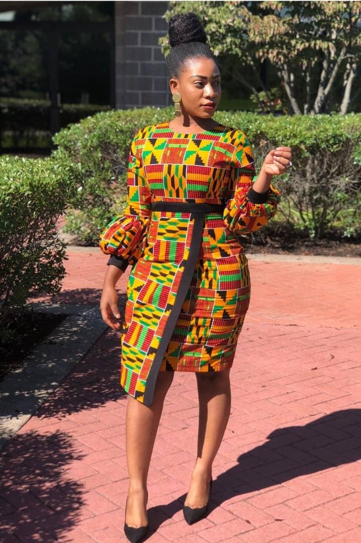 f8ab43d51c1 African Dress Kente - Dashiki Dress - AFRICA BLOOMS
