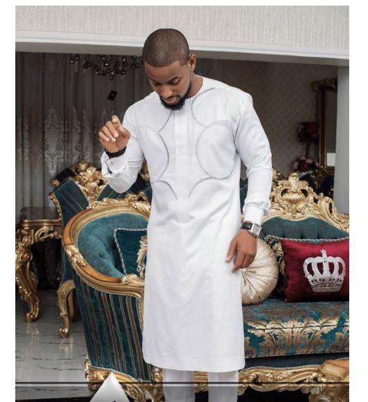 63dd71232308 White African Traditional Wedding Design |Dashiki Men Suit|Africa Blooms