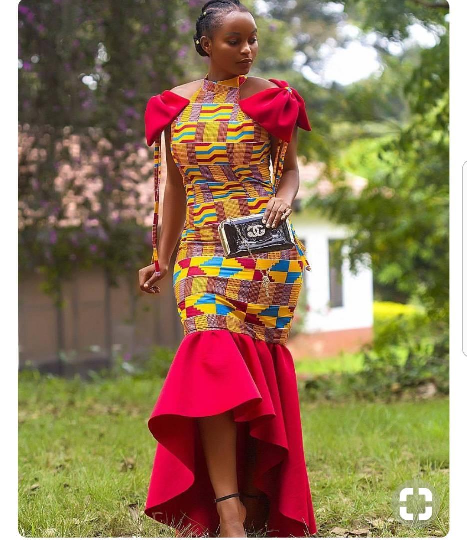 ad1b0eeb4c0 Beautiful African Kente Dress - AFRICA BLOOMS