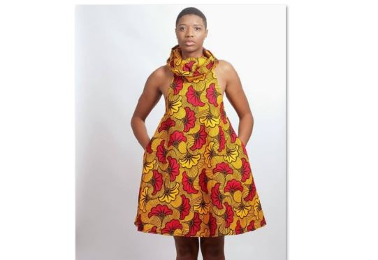 5bd63fa55e52 Yellow Ankara Dress Style | African Clothing Women Dress | Africa Blooms