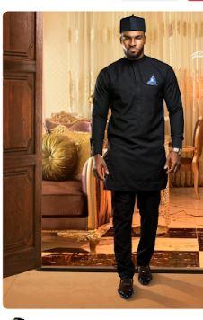Black Dashiki Wedding Wear Suit African Attire Design Africa Blooms