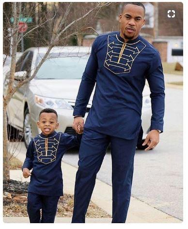 Blue Gold Dashiki Suit Mens African Wedding Dress Men Africa Blooms,Hot Weather Simple Wedding Dresses 2020