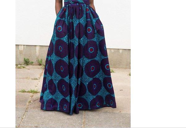 36d85441f0 Purple Blue Dashiki Skirt | Long African Print Skirt for Sale ...