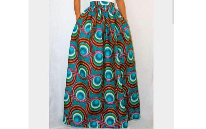 c2ae378460 Dashiki Ankara Maxi Skirt | Long African Print Skirt for Sale ...