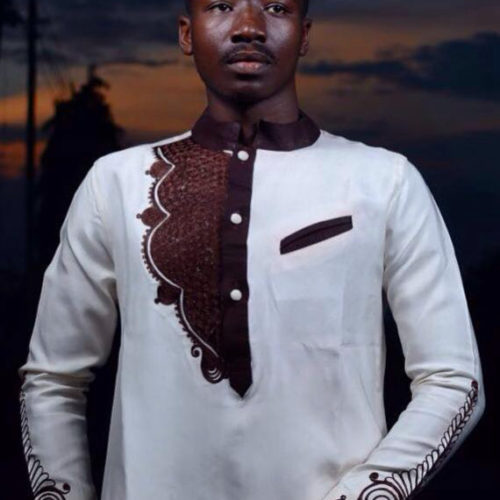 4a0701c1 White & Brown Dashiki Fashion Styles Guys | African Embroidery Shirt & Pants