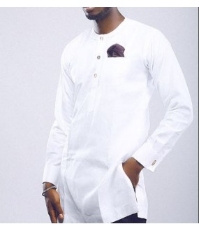 87e21824c3 White African Styles for Men | African Wedding Clothing Shirt & Pants