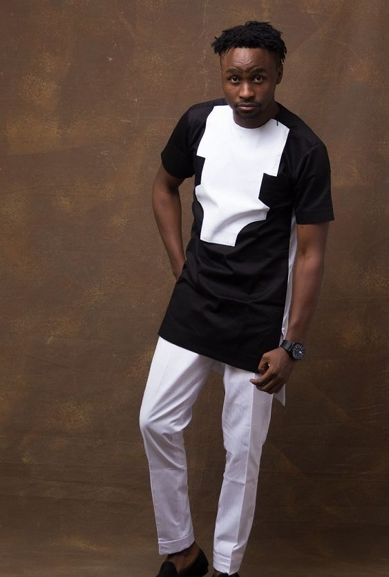 f140146e8c5 Black   White African Dashiki Fashion Top   Pants - AFRICABLOOMS