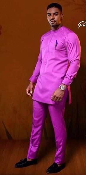 Lilac Purple African Mens Fashion Dashiki Mens Wear Africa Blooms
