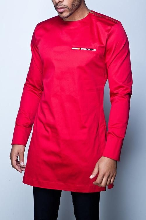 Red \u0026 Black Dashiki for Men Suit