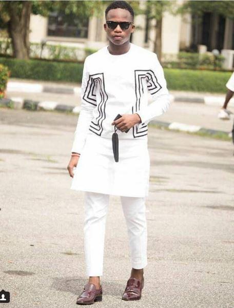 81f354f510c White   Black African Dress Designs Mens Shirt   Pants - AFRICA BLOOMS