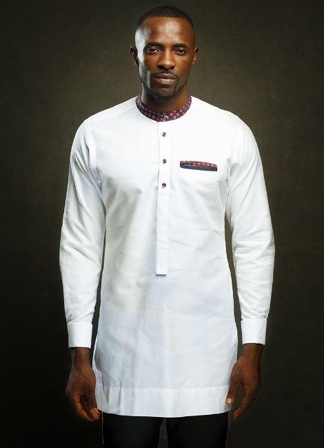 3784da632ef White Traditional African Wedding Mens Dashiki   Black Pants - AFRICABLOOMS  · White African Wedding Mens Shirt - AFRICABLOOMS