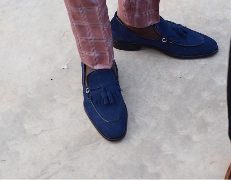 Blue Mens Dress Shoes Loafers for