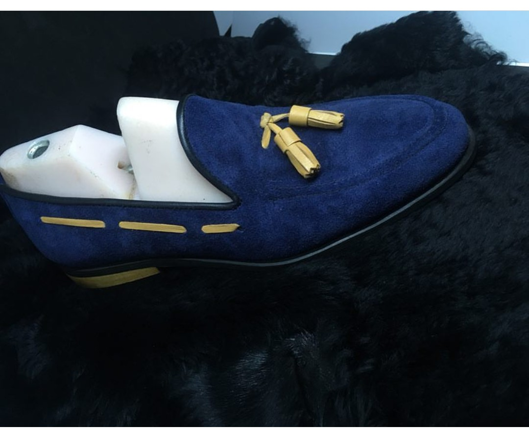 Blue Mens Dress Shoes for African
