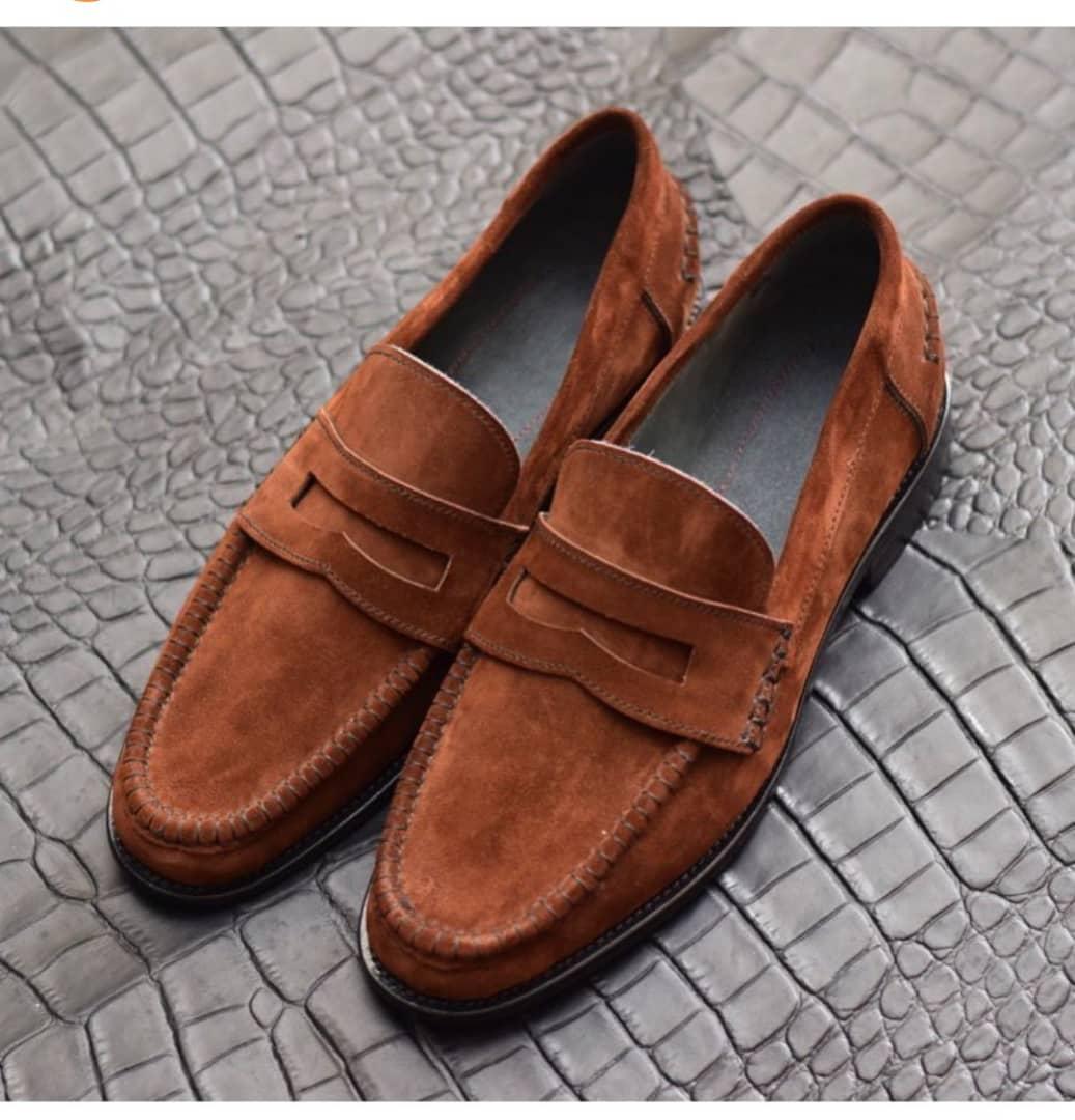 Brown Suede Mens Dress Loafers |Buy