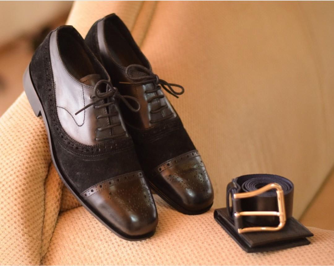 a3ace30fd8 Black Mens Fashion Dress Shoes |Black Leather Mens Shoes & Black Belt