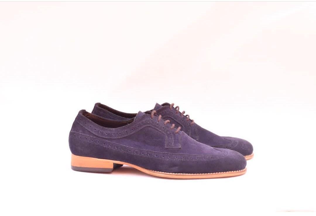 Mens Purple Dress Shoes | Purple Suede