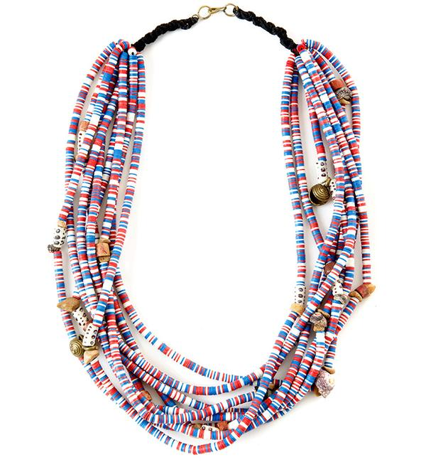 Colorful African Beaded Necklace African Tribal Necklace Swa016nk