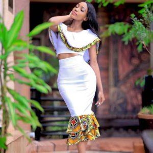 b81f0ec8baf White Ankara Top & African Print Skirt | Beautiful Ankara Wedding Dress