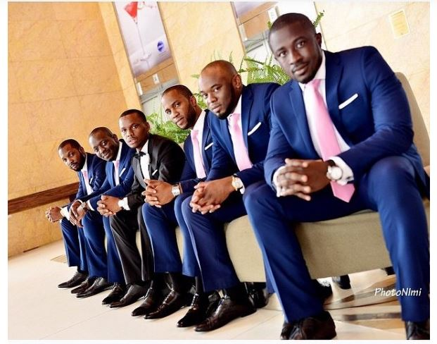 Blue Black Mens Wedding Suits Groom Groomsmen Suit Custom Mens Suits Africa Blooms