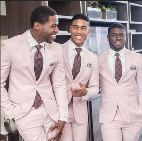 Soft Pink Mens Wedding Suit Groom Groomsmen Suit Custom Mens Suits Africa Blooms,Wedding Reception Elegant Dresses For Wedding Guests